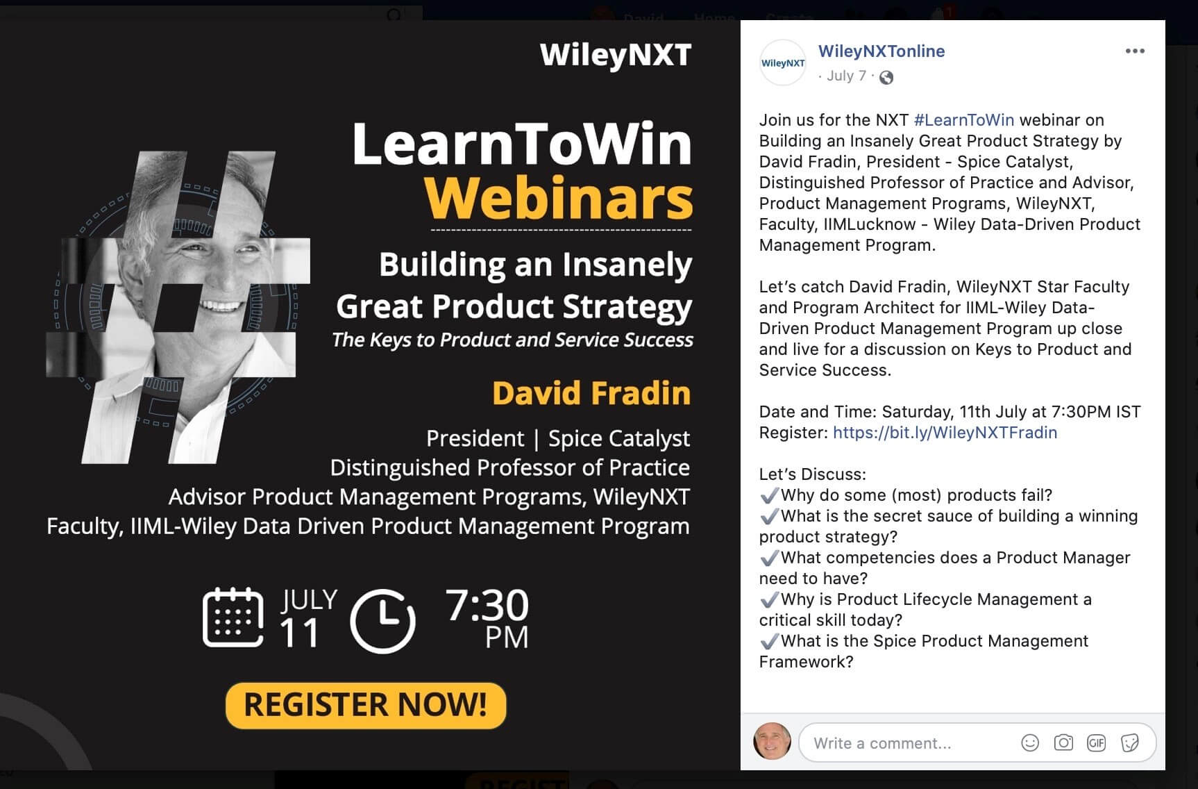 WileyNXT Webinar on Building an Insanely Great Product Strategy Tag