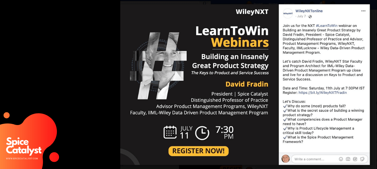 WileyNXT Webinar on Building an Insanely Great Product Strategy